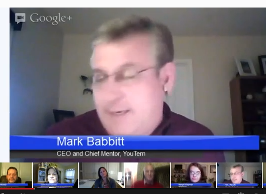Mark Babbit from YouTern and SavvyIntern discusses internships and young careers on Hecklers'  Hangout